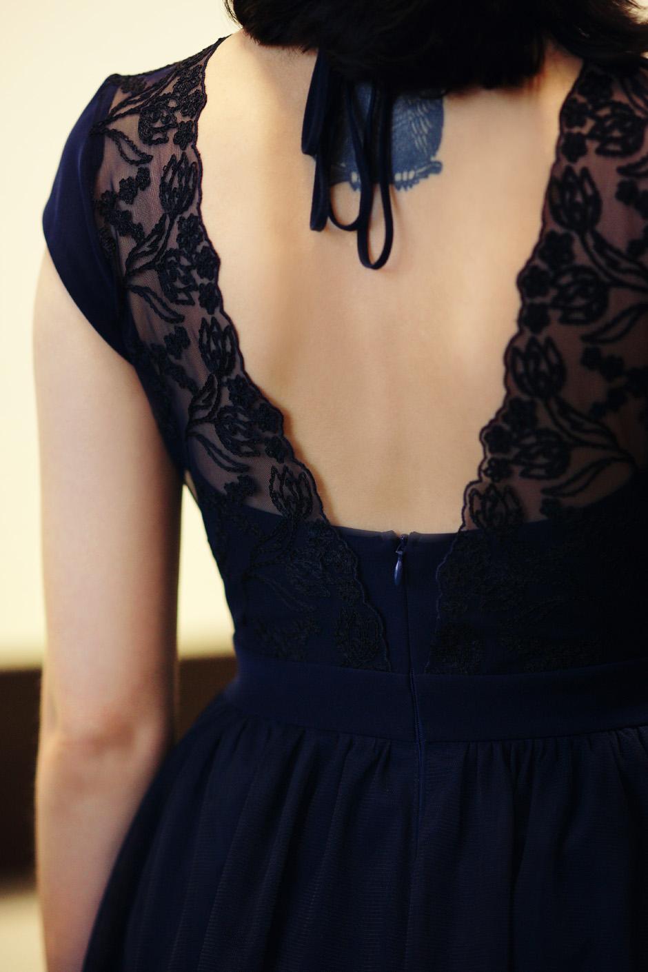 granatowa sukienka na karnawał na wyjście na kolację 2016 (16)