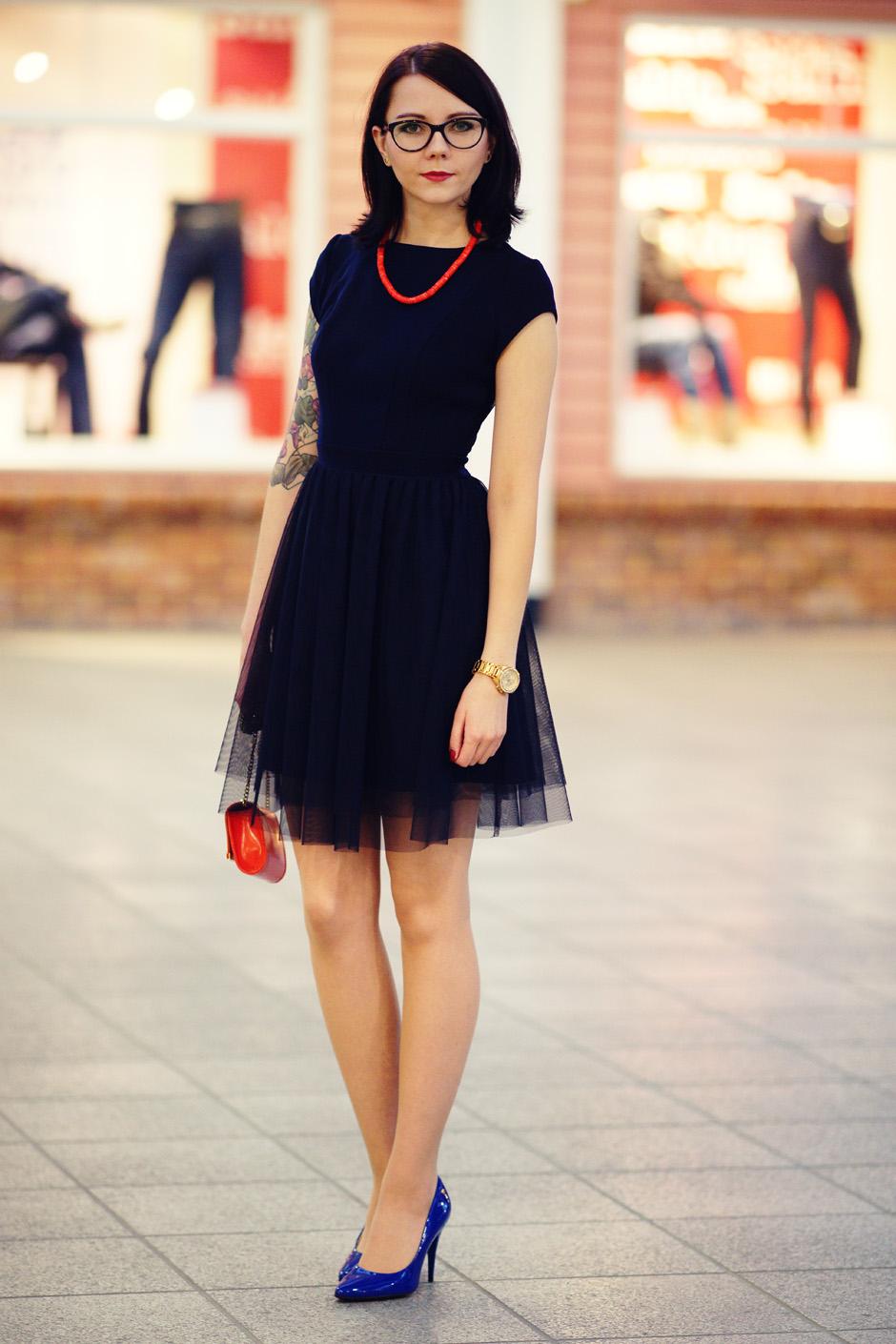granatowa sukienka na karnawał na wyjście na kolację 2016 (23)