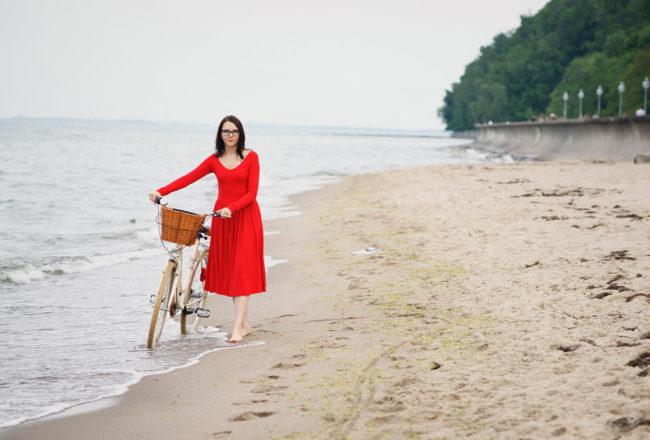 czerwona sukienka gotowa na wszystko risk
