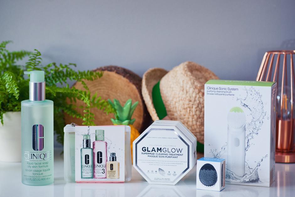 zestaw kosmetyków do oczyszczających do skóry mieszanej i tłustej