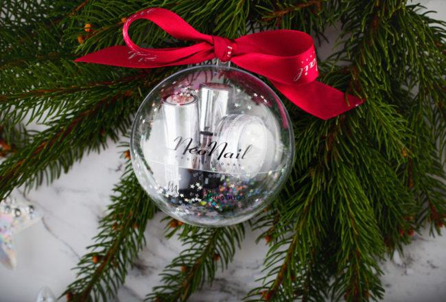Świąteczny zestaw NeoNail w formie bombki – idealny prezent dla miłośniczek hybrydowych paznokci