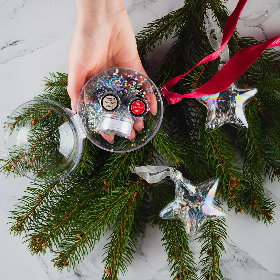 świąteczny zestaw neonail bombka