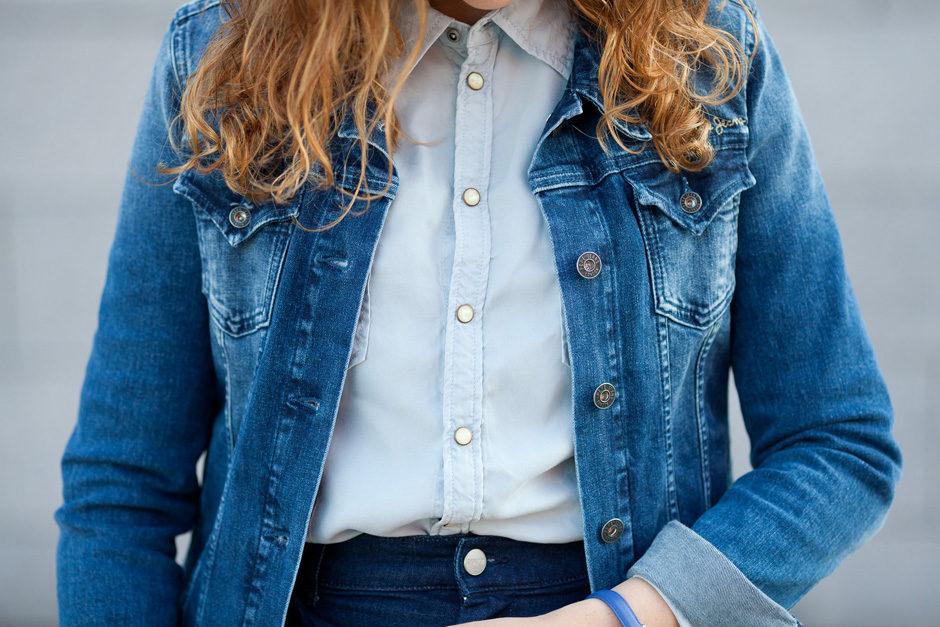 jeansowa kurtka
